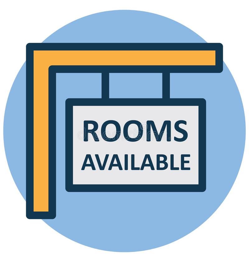 Hotel, icona isolata di vettore di informazioni di hotel che può modificare o pubblicare facilmente royalty illustrazione gratis