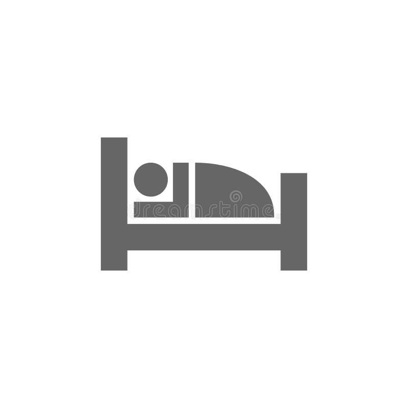 Hotel, icono simple del vector del glyph de los alojamientos ilustración del vector