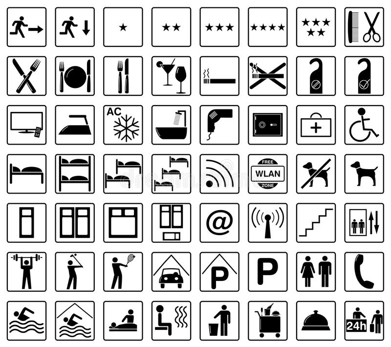 Download Hotel icons stock illustration. Image of icons, safe - 27924993