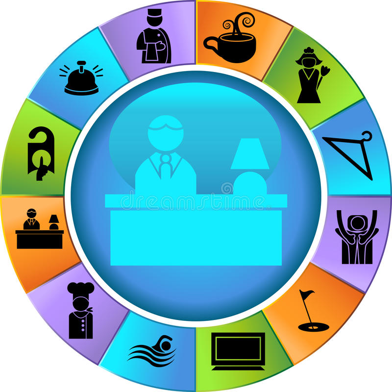 Download Hotel Icons stock vector. Illustration of front, button - 9517689