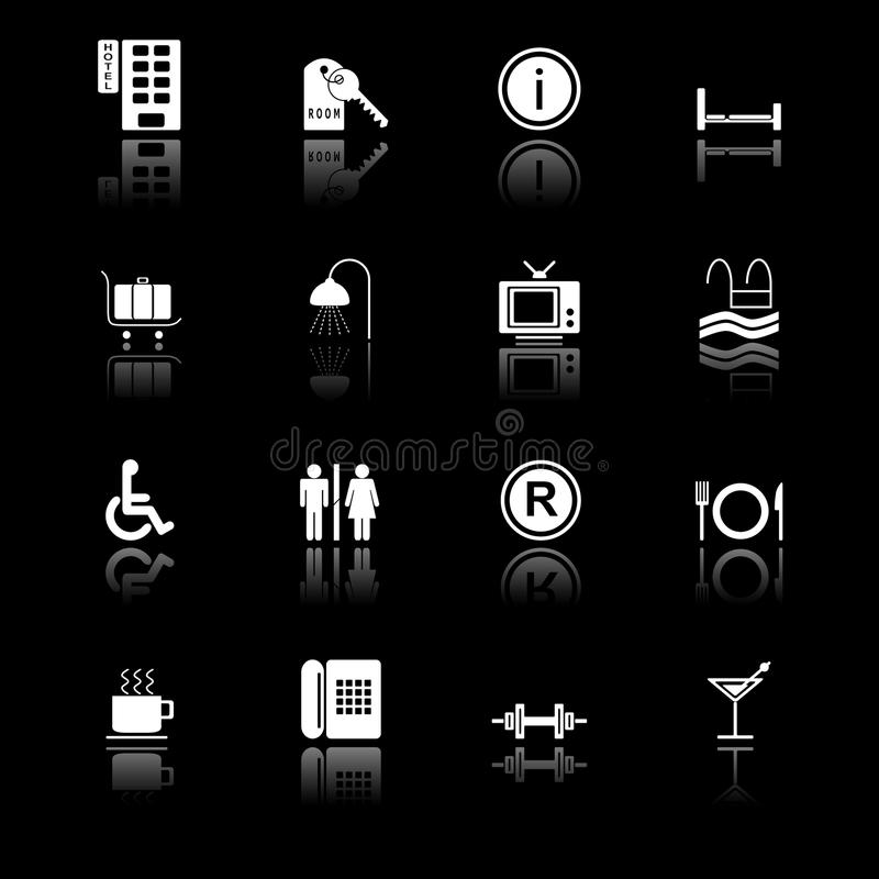 Download Hotel icons - black series stock vector. Illustration of hotel - 11132397