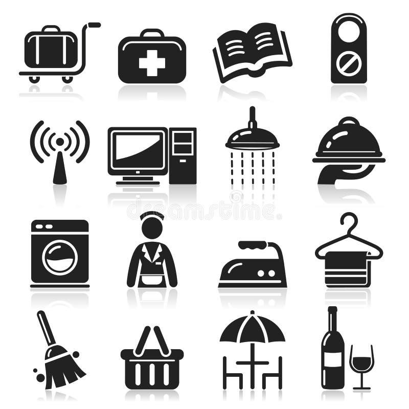 Download Hotel icons set. stock vector. Image of hostal, shop - 38946226