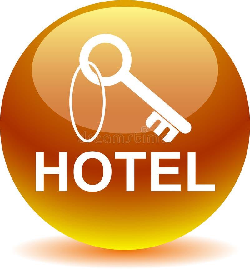Hotel ikony sieci kluczowy guzik ilustracja wektor