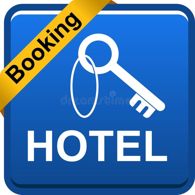 Hotel ikony sieci kluczowy guzik ilustracji
