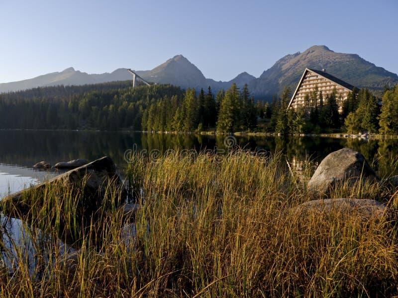 Hotel im hohen Tatras stockfotografie