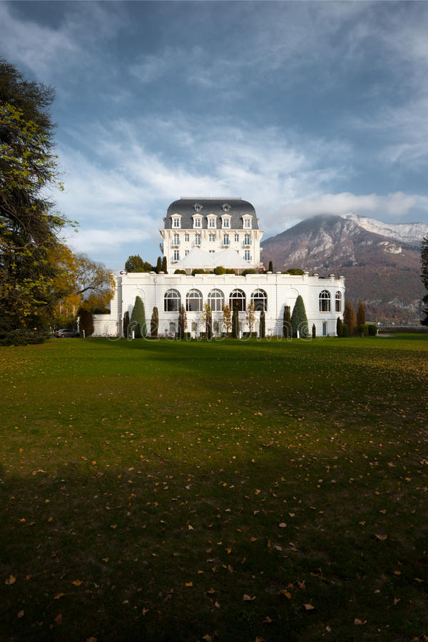Hotel Imperial Palace Annecy France Alps stock images
