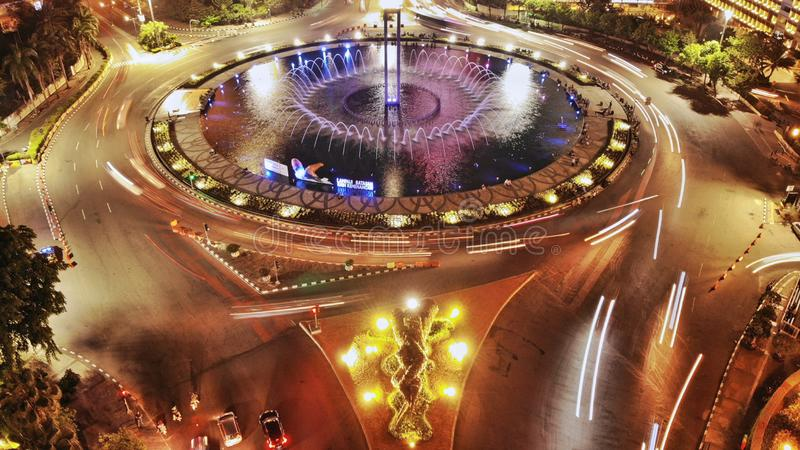 Hotel Indonesia, Jakarta di Bunderan fotografia stock