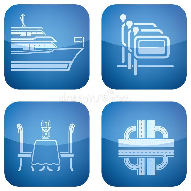 Hotel-Info und Dienstleistungen stock abbildung