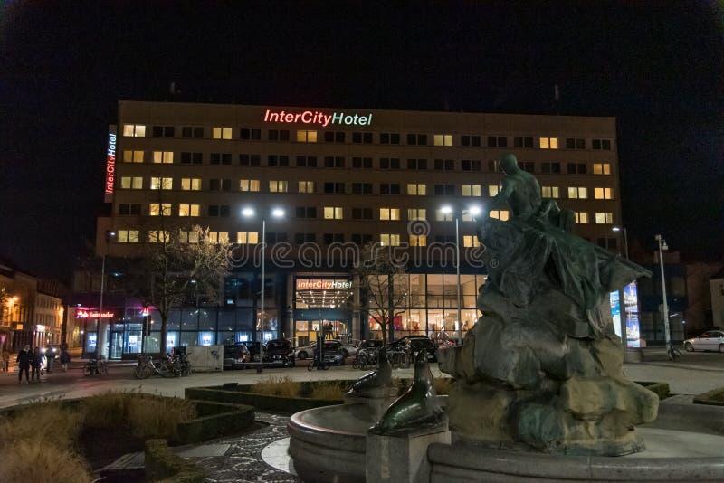 Hotel inter de la ciudad en Schwerin Alemania el 30 de noviembre de 2018 fotografía de archivo libre de regalías