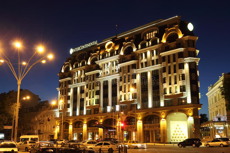 Hotel Intercontinental. KIEV - JUNE 20: Luxurious Hotel Intercontinental on June 20, 2013 in Kiev, Ukraine stock images