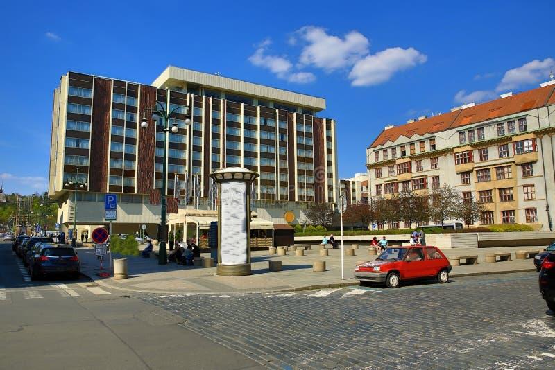 Hotel Intercontinental, Modern Buildings, Paris Street, Prague, Czech Republic royalty free stock photography
