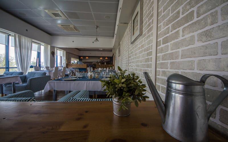 Hotel. Interior. A restaurant. stock photography