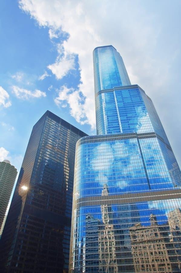 Hotel internacional do trunfo e torre (Chicago) fotografia de stock royalty free