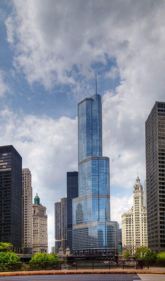 Hotel Internacional E Torre Do Trunfo Em Chicago Foto Editorial