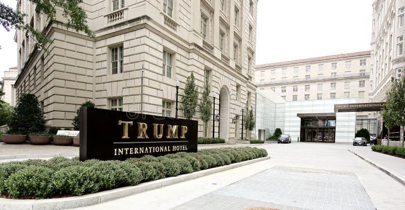Hotel internazionale di Trump formalmente il vecchio padiglione Washington, D dell'ufficio postale C, fotografia stock libera da diritti