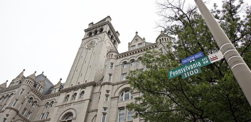 Hotel internazionale di Trump formalmente il vecchio padiglione Washington, D dell'ufficio postale C, fotografie stock