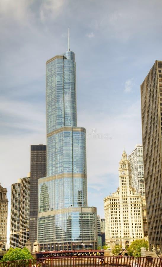 Hotel internazionale e torretta del briscola in Chicago