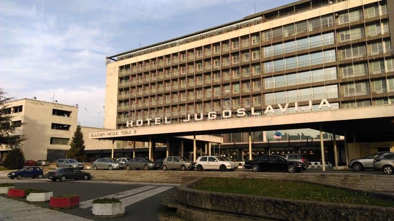 Hotel Jugoslavija stock images