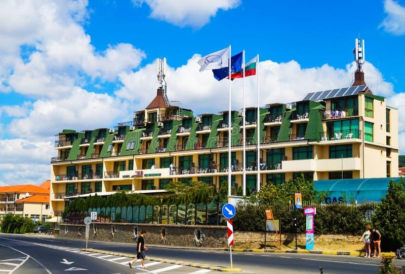 Hotel Julia en Sveti Vlas en Bulgaria fotografía de archivo