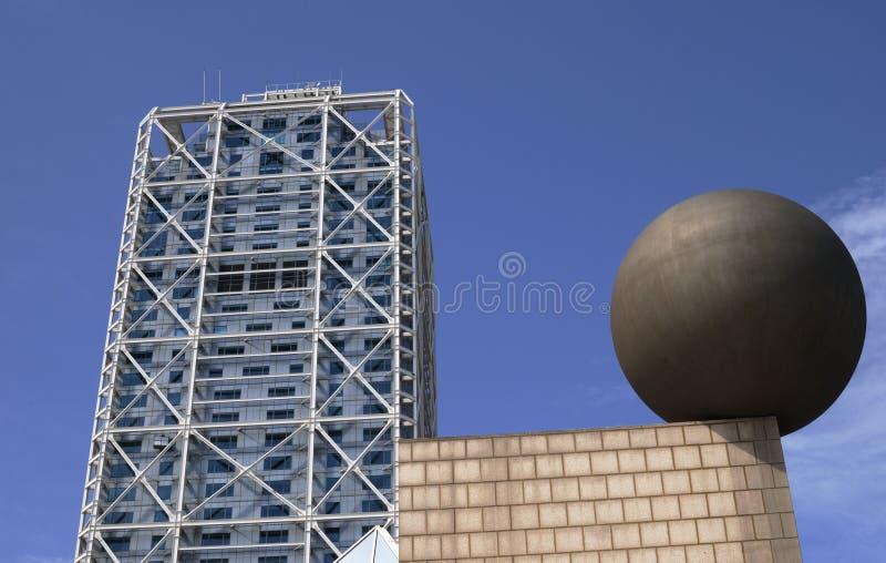 Hotel-Künste am Hafen Olimpic. Barcelona. Spanien stockfotos