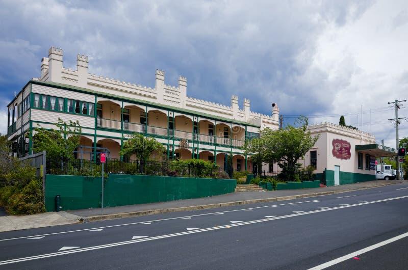 Hotel Kaiser am Berg Victoria in den blauen Bergen Australien stockfotos