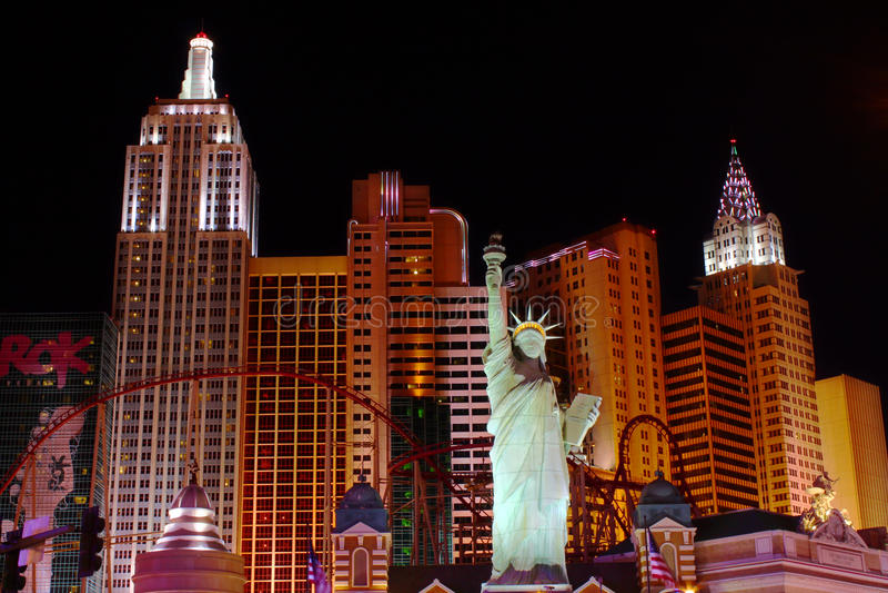 Hotel-Kasino New- Yorknew york stockfoto