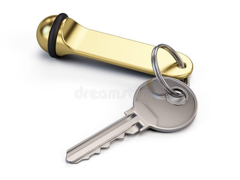 Hotel key stock illustration
