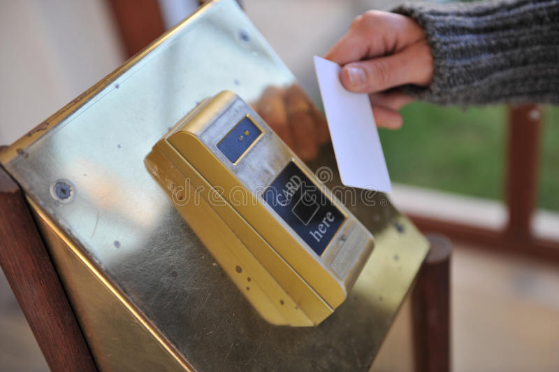 Hotel Keycard Machine Stock Photos