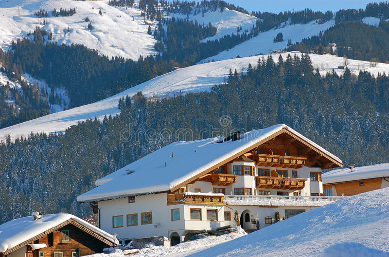 Hotel In Kirchberg Austria royalty free stock photography