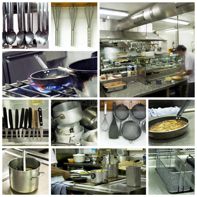 Free Hotel Kitchen Collage Royalty Free Stock Photos - 15407118