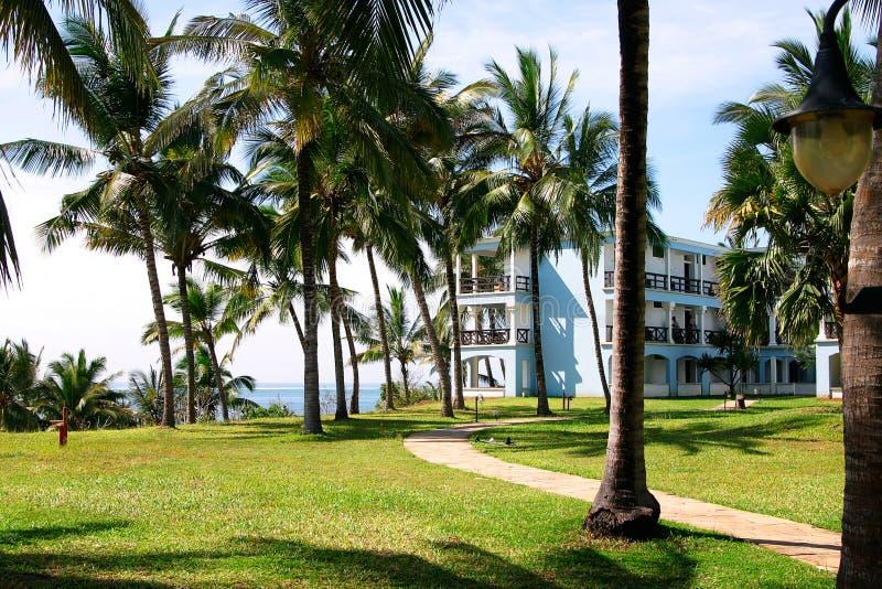 hotel kurortu tropikalny morzem obrazy stock