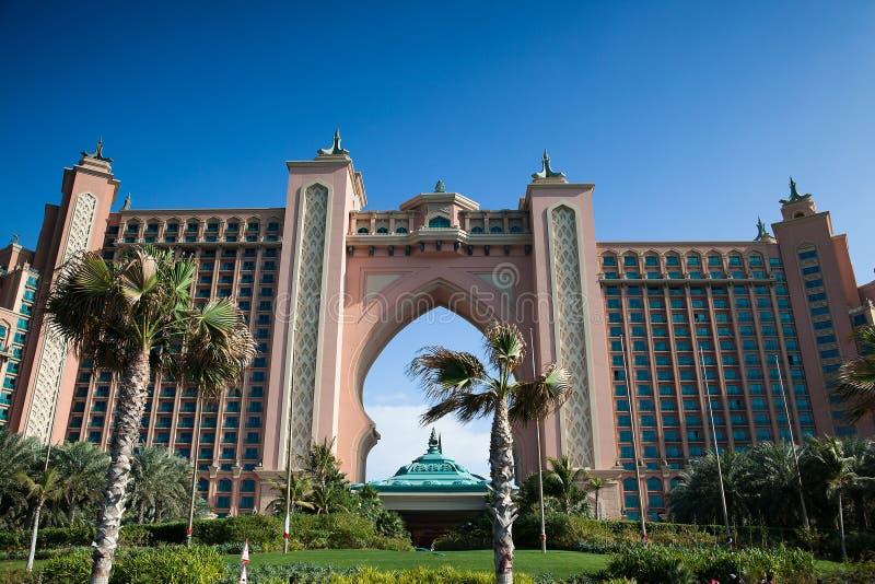 Hotel la Atlántida en Dubai foto de archivo libre de regalías