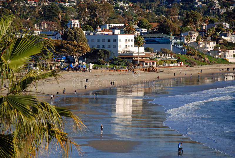 Hotel Laguna in Laguna Beach, Califonria stock image