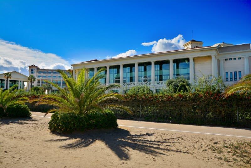 Hotel Las Arenas on Malvarrosa beach in Valencia. VALENCIA, SPAIN - NOVEMBER 5, 2016. Hotel Las Arenas on Malvarrosa beach in Valencia ,Spain royalty free stock images