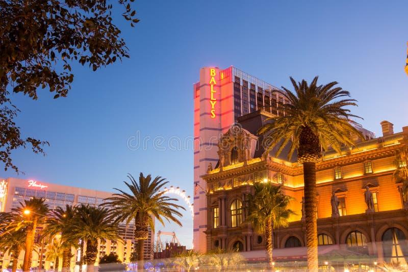 Hotel Las Vegas Boulevard de Ballys foto de stock