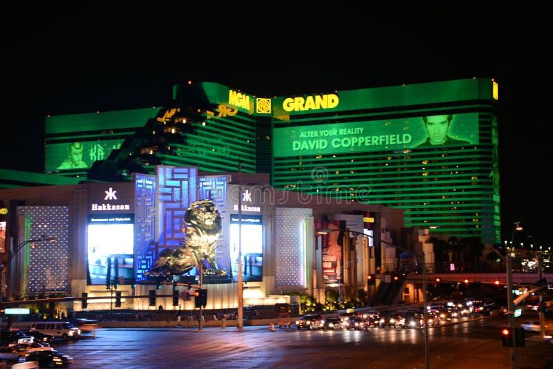Hotel Las Vegas di MGM fotografia stock