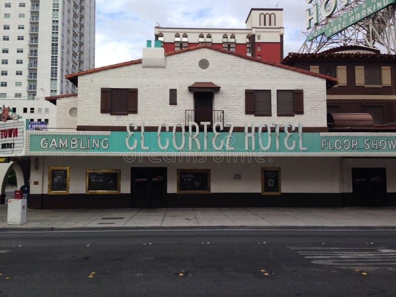 Hotel Las Vegas viejo del EL Cortez fotos de archivo