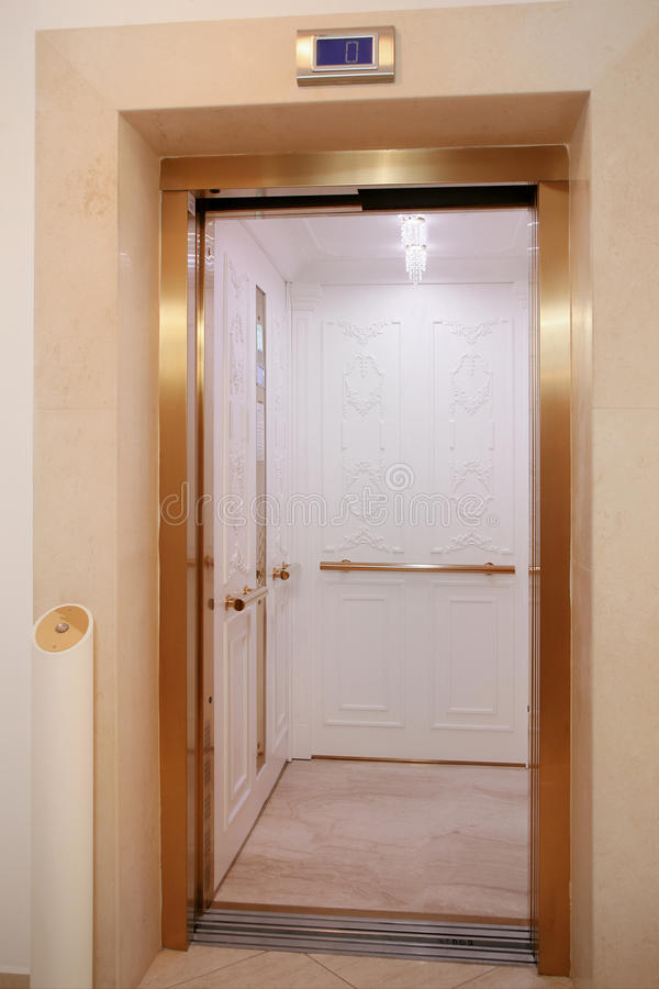 Hotel lift stock photography