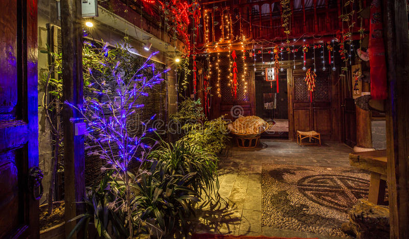 Hotel in Lijiang old town royalty free stock photography