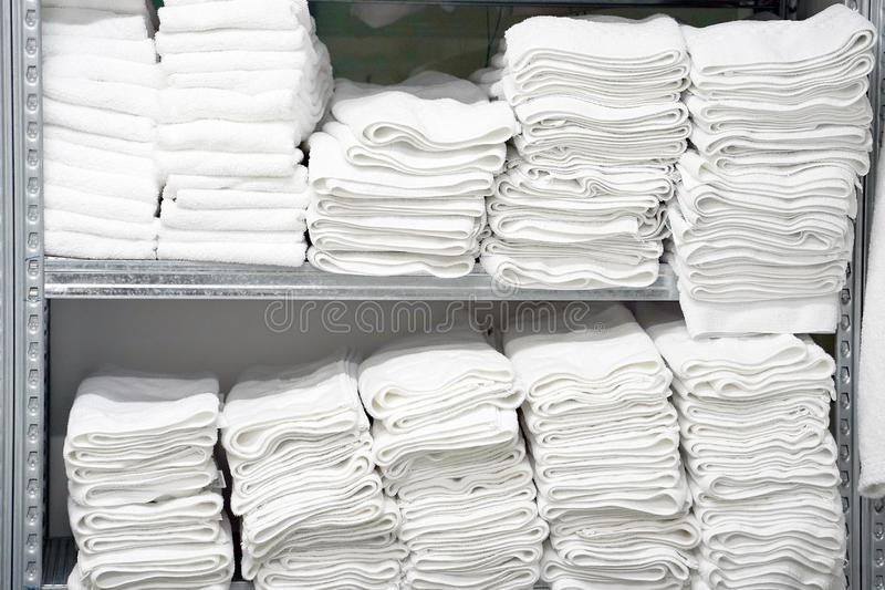 Laundry hotel cleaning services. Hotel linen cleaning services. Hotel laundry royalty free stock photos