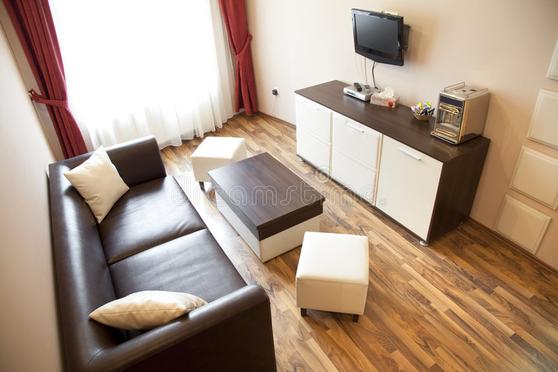 Hotel living room stock image