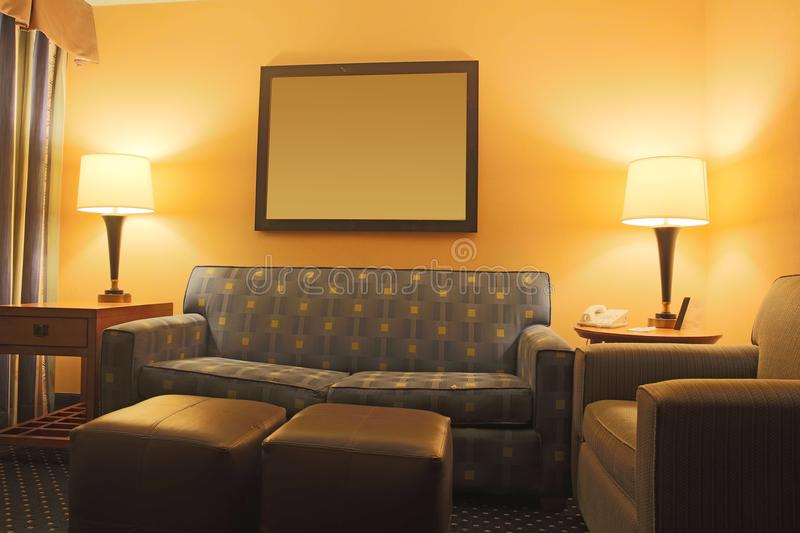 Hotel living room stock image