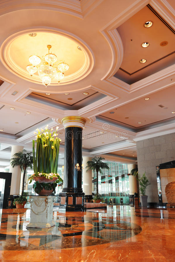 Hotel-Lobby stockbilder