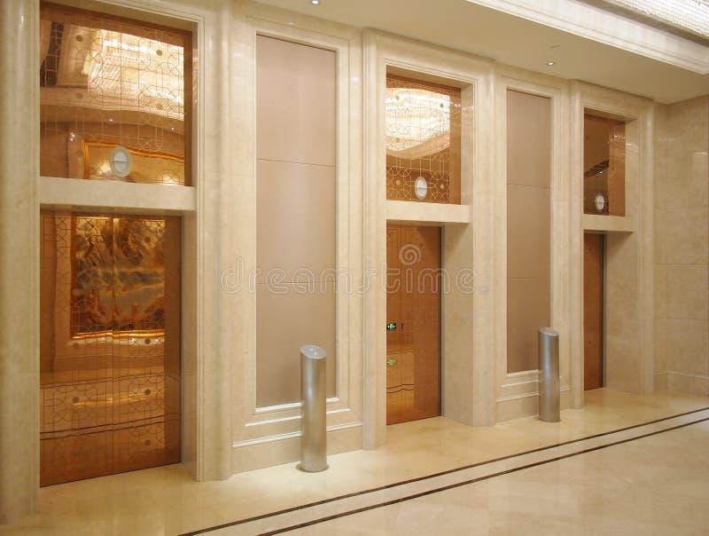 Hotel lobby and elevator stock photo image of decoration for Luxury elevator