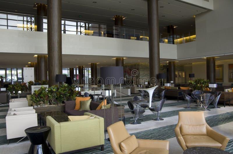 Hotel lobby lounge bar stock photo