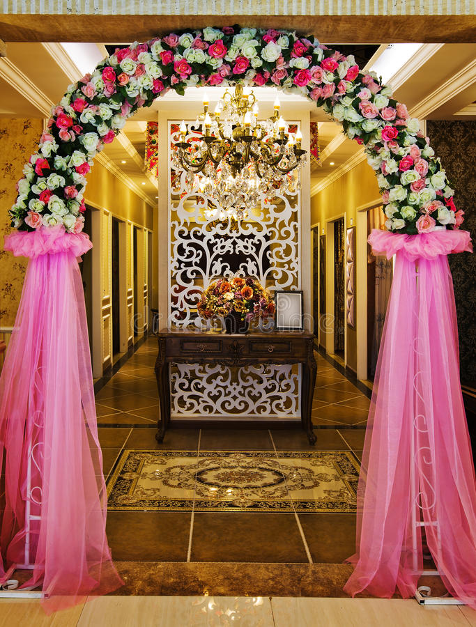 The hotel lobby. Luxurious decoration, display the high-end hotel royalty free stock photos
