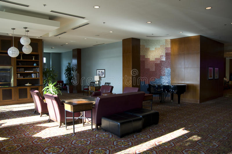 Hotel lobby of Seattle Marriott Waterfront stock photography