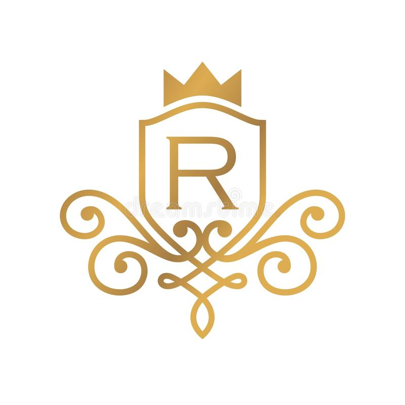 Hotel Logo Template royalty free illustration