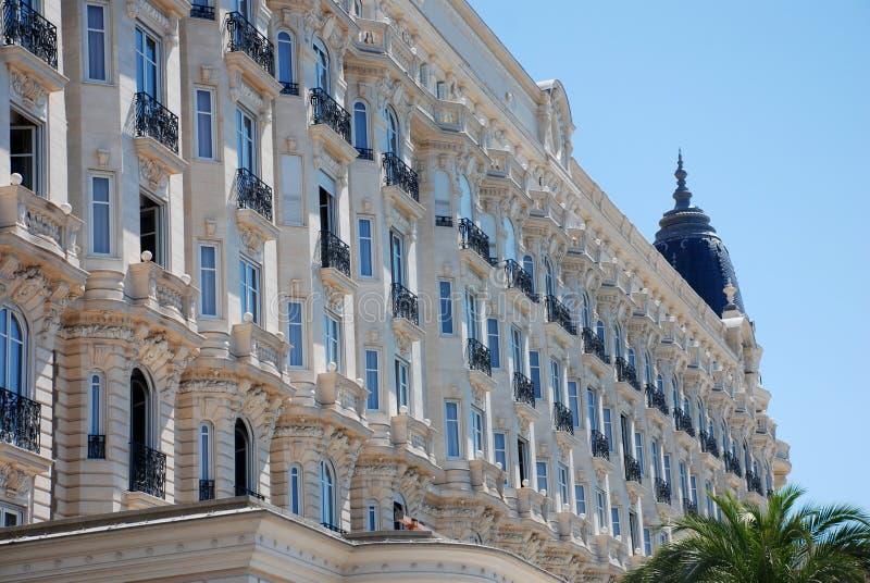 Hotel lussuoso a Cannes fotografie stock libere da diritti