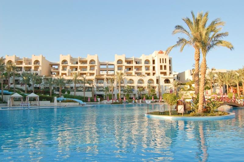 Hotel luxuoso, Sharm El Sheikh, Egipto foto de stock royalty free